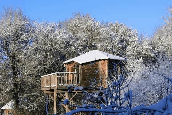 Noël en cabane dans les arbres